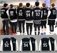 KPOP NEW Sale BTS Bangtan Boys A.R.M.Y Fashion Good Quality Baseball Uniform