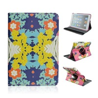 Fashion Butterfly Floral Patterns PU Leather 360 Rotating Cover Case For iPad 5 / iPad Air +Free Screen Protector &Stylus Pen