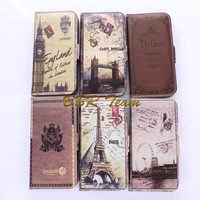 Hot UK USA Flag Wallet Flip Cover Case Leather case for Apple iPhone 6 with Folding Function Free Shipping