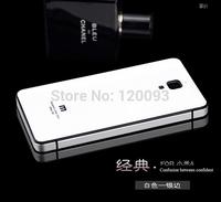 New Xiaomi Mi4,Xiaomi M4, Aluminum Metal Tempered Glass Case Cover For Xiaomi 4 MI4 M4 Mobile Phone Cases