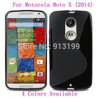 Free Shipping 1Pcs S Line Soft Gel TPU Silicone Case Skin Cover For Motorola Moto X (2014) / X2 / X+1(2nd Gen.) XT1097 Mobile