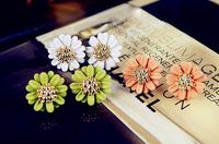 0598 accessories brief fashion elegant daisy flower stud earring