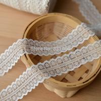 Factory wholesale cheap E624 laciness lace accessories beige white bilateral terylene lace fabric clothes fabric lace trim 2.5cm