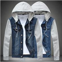 man spring 2014 denim jacket coat men sportswear outdoors casual jackets men clothing denim jacket jeans jacket men gym cotton(China (Mainland))