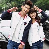 Good quality Fashion Couples Lovers Baseball uniform Jacket Stand collar Thicken Casual Sweatshirt outerwear Women hoodies