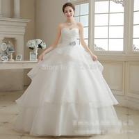 New dress fashion draping strapless cultivate one's morality with bitter fleabane bitter fleabane skirt wedding dress