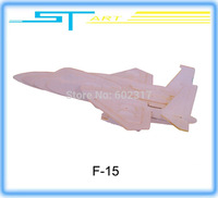3D puzzle F-15 Eagle Fighter Wooden simulation model DIY assembled Three-Dimensional puzzle children gift present free shipping