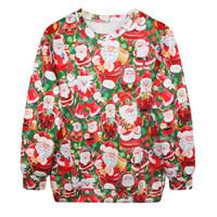 Fashion Harajuku Sweaters and Pullovers Digital Printed Sweatshirt Xmas Santa Claus homme femme