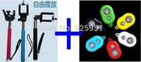 Hot sale! Selfie Monopod self stick Extendable Handheld+Clip Holder+Bluetooth Camera Remote Control self-timer DHL free ship
