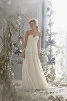 2015 Hot Sale Sweetheart Chiffon Wedding Dress Bridal Gown Formal Dresses Custom Size 2 4 6 8 10 12 14 16 18 20++
