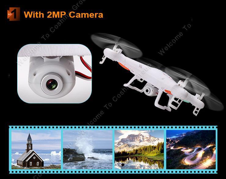 Livraison gratuite! Jjrc h5c 6- axes gyro 360 degree clip. rc. quadcopter d'avion. avec 2mp caméra hd led rtf