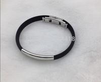 new style Silicone titanium bracelets