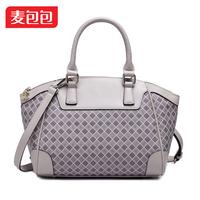 Alpha 2014 women's fashion handbag plaid women's handbag messenger bag