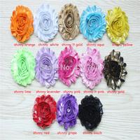 DHL Free shipping 60 yards/ lots , shabby flowers , shabby tirm rosette flowers , infant  headband  shabby flowers