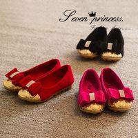 2014 Autumn new Korean diamond bow shoes girls cute sweet little girl princess shoes 21-35 yards