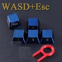 ESC+WASD ESC+QWER MKC Metal Blue Keycaps Inside Engraved High Quality zinc alloy