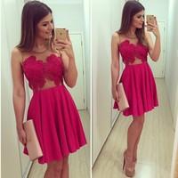 Red halter chiffon lace women dress Patchwork sleeveless pleated Vestido De Renda vestidos de renda casual free shipping 2014