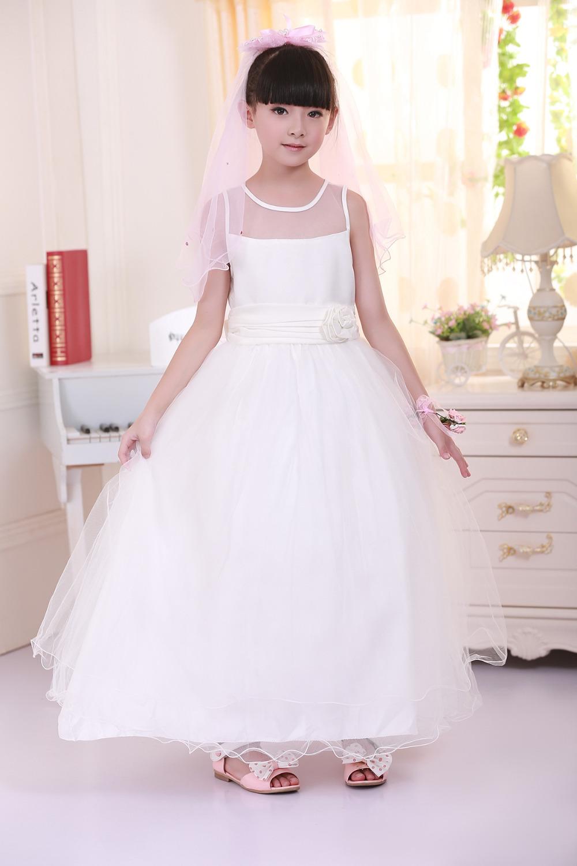 Flower Girl Dresses - IVORY with Peach (FD0FL) - Wedding Easter Junior Bridesmaid - For Children Toddler Kids Teen Girls(China (Mainland))