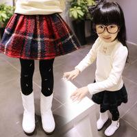 Autumn winter warm plaid girls tutu skirt  TT-8 girls clothes disfraces infantiles saia roupa infantil feminina size