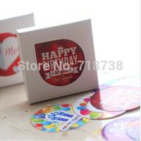 (1 Lot=6 Sets=228 Pcs) DIY Scrapbooking Paper Kawaii Birthday Diary Stickers Kid Album Decoration Baking Sealing Stickers