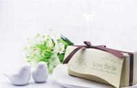 Free shipping Hot selling newest wedding favors, love bird salt pepper shaker Wedding gift Ceramic gift