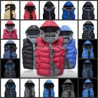 new men's sports vest cotton vest thick winter coat fashion coat coat anti-cold / 18 colors