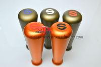 5pcs newest series of high-grade pure aluminum metal car automatic gear shift knob / gear stick head / multi-color