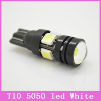 2x/lot T10 LED W5W 5W Car LED Auto Lamp 5050 SMD 12V Auto Light Bulb With Projector Lens Clearance Interior Parking Lamp