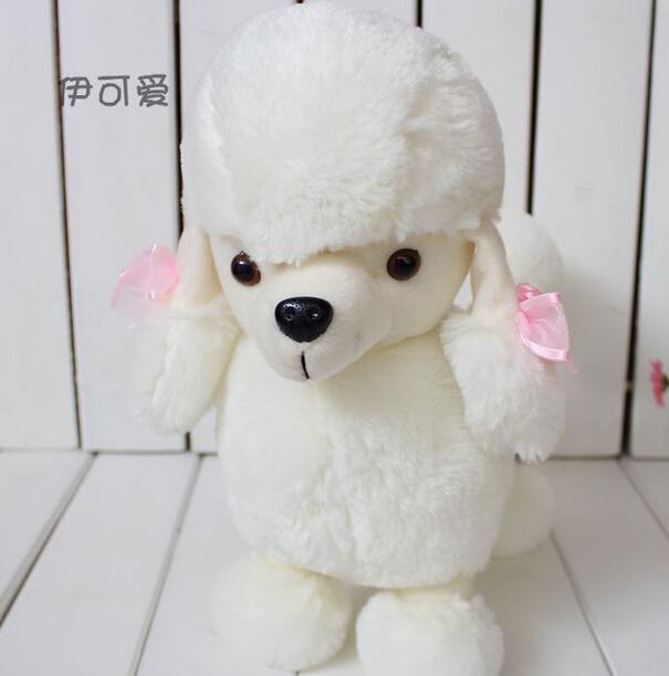 Free Shipping 2014 hot sale 2pcs/lot 32cm small plush dog animals soft pp cotton stuffed dog toy doll shepherd dog two colors(China (Mainland))