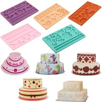 14 Style Various Silicone Fondant Cake Embossing Gum Paste Decorating Baking Mold Mould