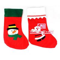 3 pcs / lot Christmas Tree Ornament Big Size 34*24cm / Christmas Stocking Tree Hanging / Santa Claus Stocking Sock Gifts Holder