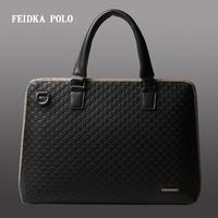 2014 men's handbag shoulder bag man bag leather briefcase small cross-section of the new men