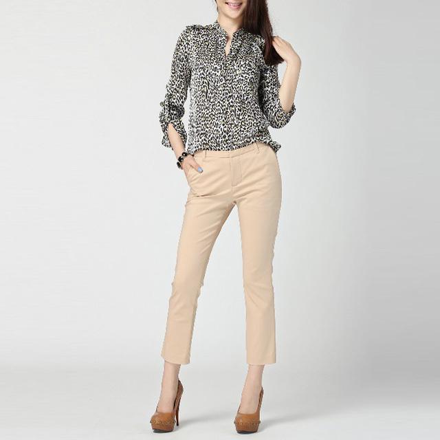 Women Blouses Ladies Sexy Blouse Feminine Mujer Camisa Leopard Printed Shirt  Women's Fashion Clothing   AE81(China (Mainland))
