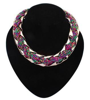 2014 новинка богемный стиль панк мода простой металлической оплеткой твист цепи ожерелья ...