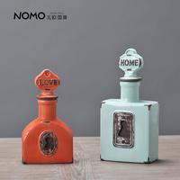 Nomo american decoration vintage retro finishing ceramic crafts bottle