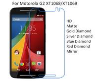 For Motorola G2 XT1068 XT1069 HD/Matte/Diamond Screen Protector Film Free Shipping