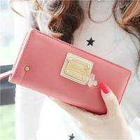 2014 new design hot fashion women lady girl bear pendants long wallet coin purse card holders handbag christmas gift pu