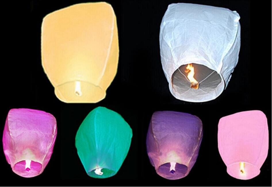 5 pcs/lot Pure Color High Quality Flying Paper Lanterns & Chinese Sky Lanterns & Lanterns For Wedding & Chinese Lanterns(China (Mainland))