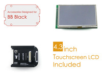 BeagleBone Black Accessories Package C=LCD Connection Board Cape+ 4.3inch LCD Screen+ Cables for ARM Cortex-A8 Development Kit
