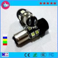 2 X White  led 1157 BAY15D 2357 Cree R5 Optical Projector Emitter+12 LED SMD Brake Tail Backup Reserve Signal Light Canbus LED