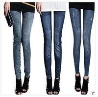 200pcs/lot Fashion Leggings Women legging Hole Pleated Prints Casual femal Leggings factory price good quanlity