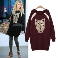 2014 autumn witner sport suit women plus size print sweatshirt women hoody printed sweatshirt printed sweatshirt 5XL