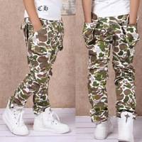 Autumn Spring 2014 New Children's Camo pants kids camouflage casual pocket Pants Boys Girls High Quality Pants Hot Sale WB-15