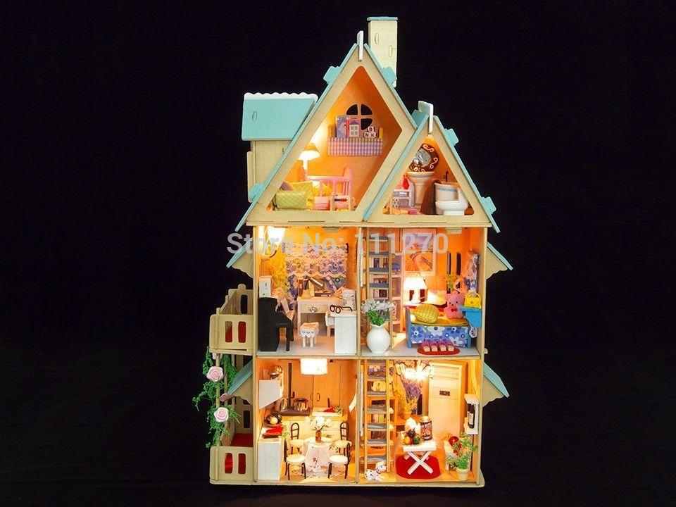 Кукольный дом DIY House 3D DIY love song of season house