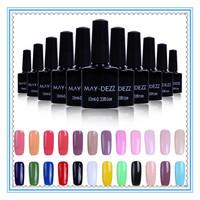 8PCS/LOT 10ML UV LED Nail Art Gel Polish Colors Choose Polish Kit Shellac Nail Varnish Gel Lacquer
