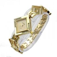 Ladies  Fashion Square Silver Casual Bracelet Diamond Dress Watches Time Quartz 86002