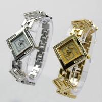New Lady Square Diamond Bracelet  Wrist Quartz Analog Watch Nice Gift For Women 86003