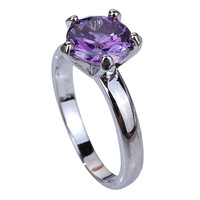 Best Price ! Fashion Saucy  Amethyst Stone 925 Silver Ring Size 10 Jewelry For Women Wholesale