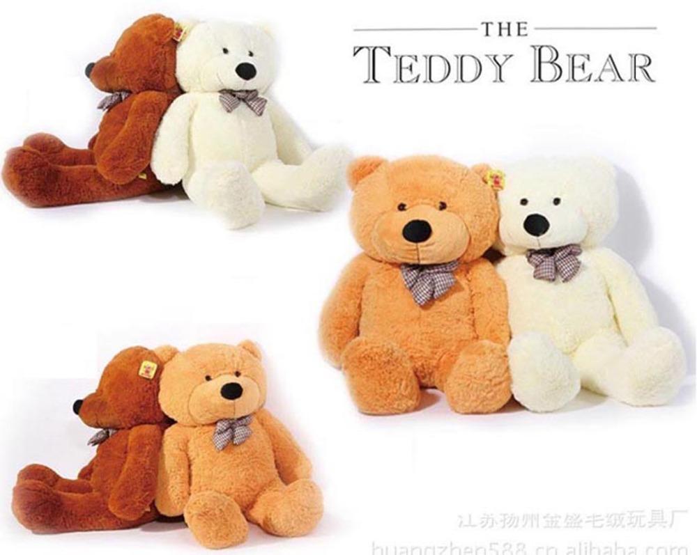 2014 New 80 CM Big Plush Huge Teddy Bear Skin Soft Cotton Animal Birthday Toy Gift Shell Cute(China (Mainland))