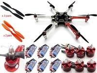 F550 ATF Hexacopter Frame Kit& DJI Brushless Motor w/ Prop & DYS Simonk 30A ESC